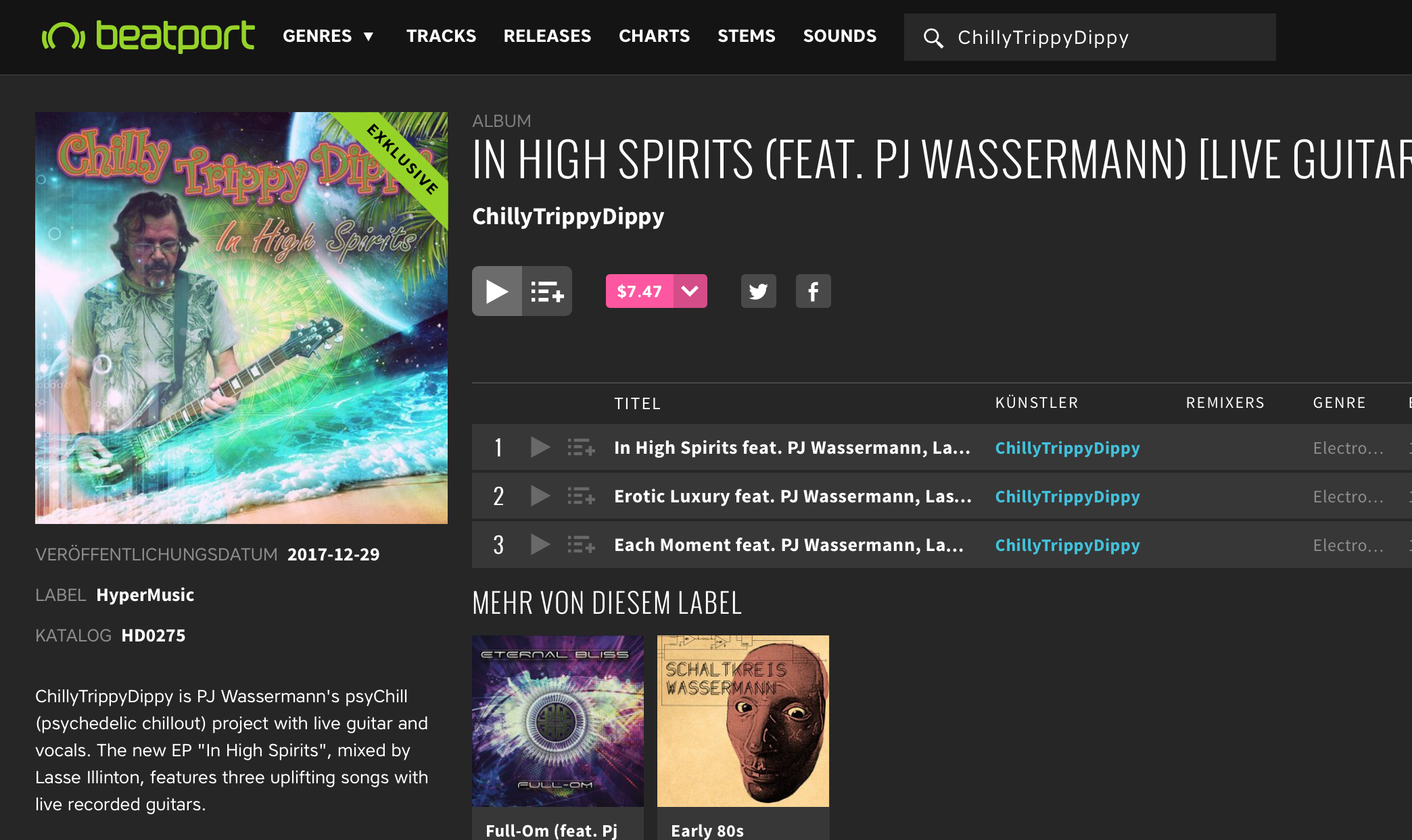 New EP now on Beatport - ChillyTrippyDippy